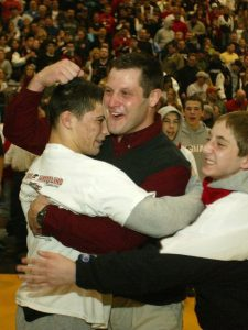 Scott Goodale and Scott Winston had many moments to celebrate together at Jackson Memorial High School before they teamed up as coach and wrestler at Rutgers. (Photo: File photo)